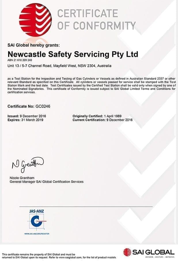 Scuba Cylinder Hydro | Hydrostatic Testing Newcastle