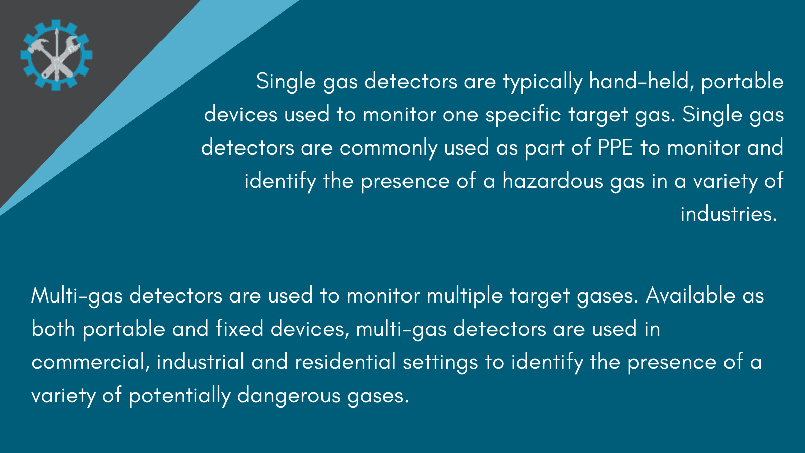 Types of gas detectors infographic