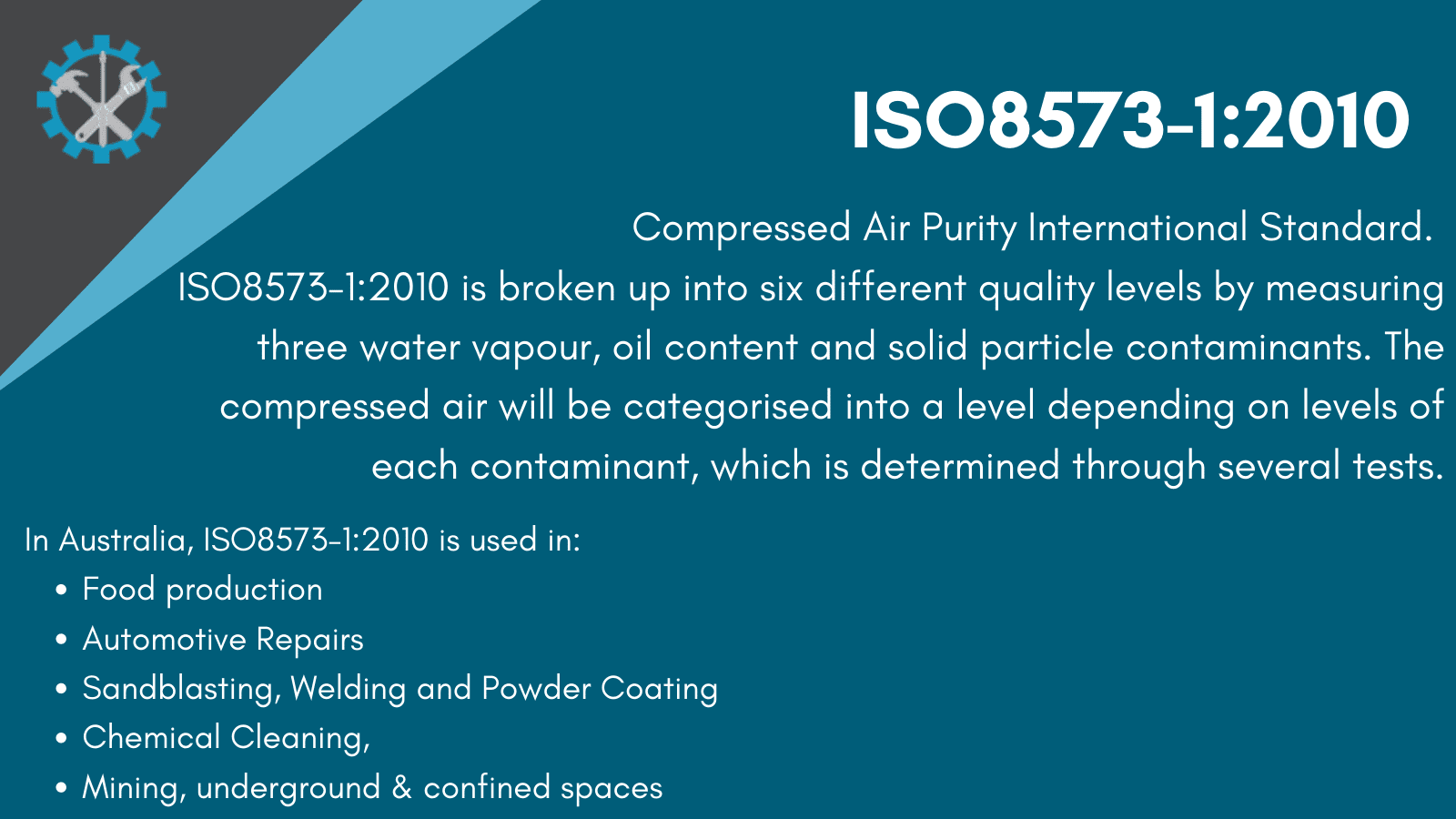 ISO8573-1:2010 Standard Infographic