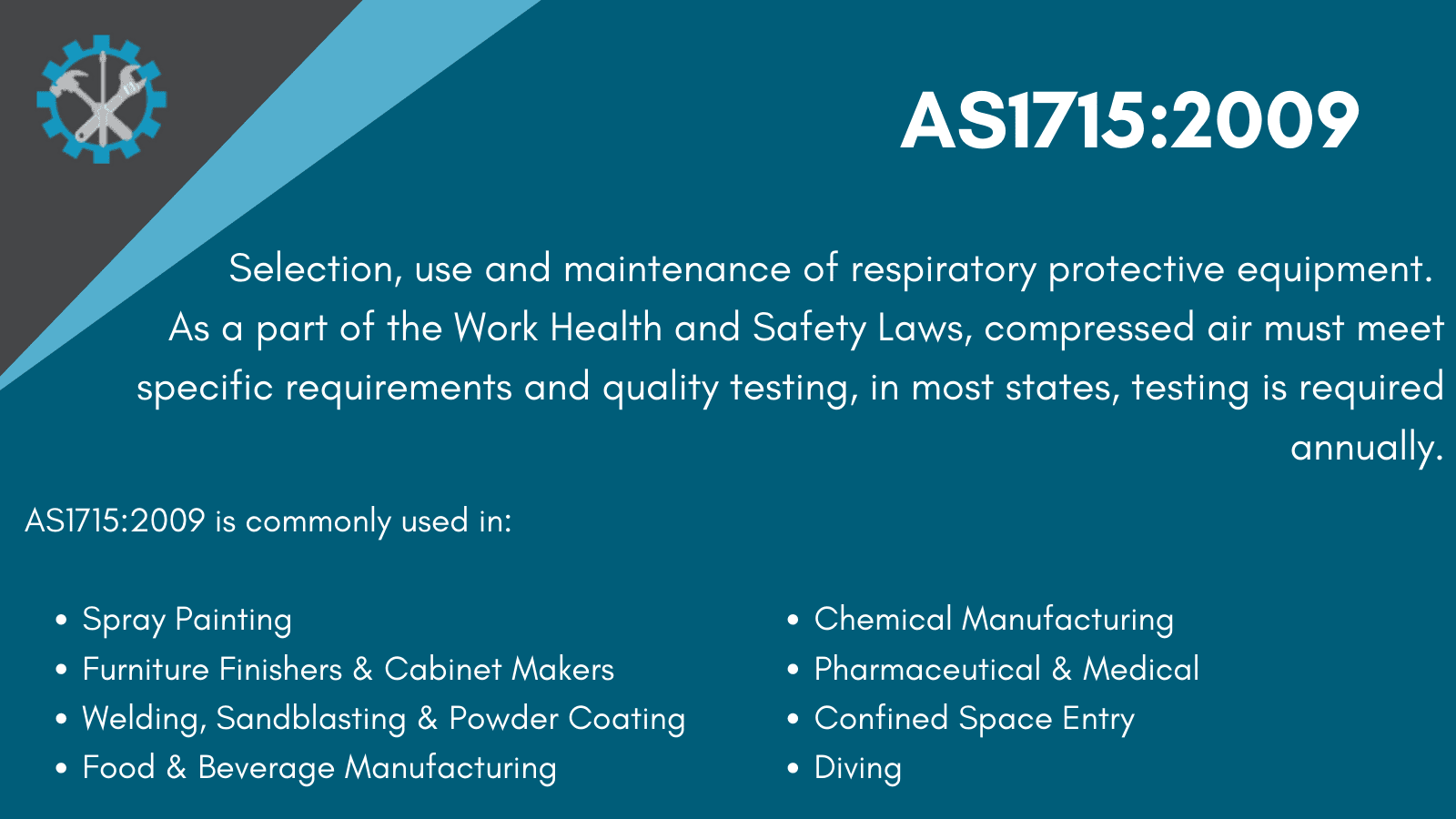 AS1715:2009 Standard infographic